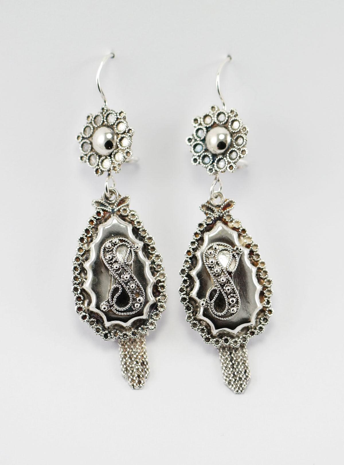 antieke zilveren oorbellen