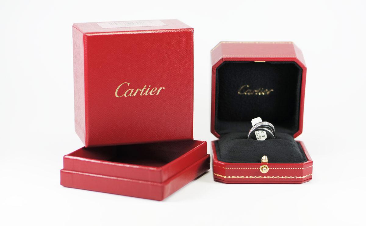 Verbazingwekkend Cartier ring Nouvelle Vaque met briljant - Antieke Sieraden ZZ-87