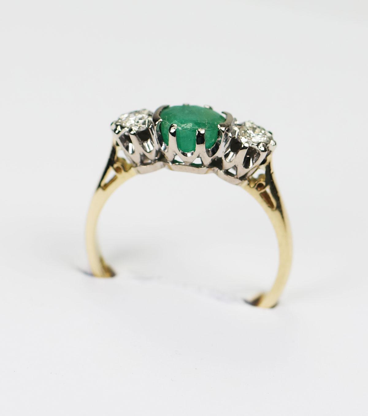 smaragd ring antiek
